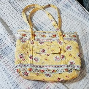 Cute yellow floral shoulder bag